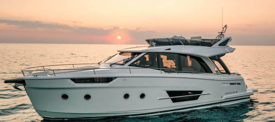 First Greenline 45 Fly, is already catching sunsets in Adriatic Sea
